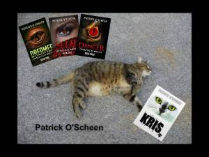 patrick 4 books and cat